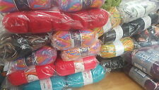 WHOLESALE JOB LOT 120 balls of hand knitting WOOL yarn  NEW FABULOUS RANGE