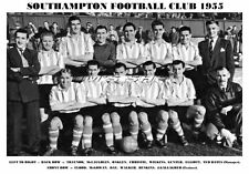 SOUTHAMPTON F.C.TEAM PRINT 1955 (FLOOD/OAKLEY/DAY/WILKINS)