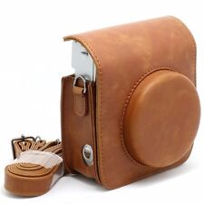Vintage Camera Case Bag For Fujifilm Instax Mini 90 Soft PU Leather Brown in UK