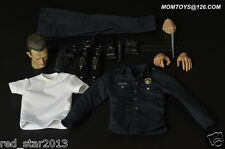 Momtoys 1/6 Terminator T1000 Head Sculpt & Costume Police Set for Hot Toys Body