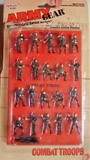 Army Gear: 20 Poseable Combat Troops (1988, Galoob) - New!