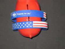 2 Boy Scout Patriot Be Prepared for Life Rubber Arm Band            k3