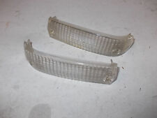 2 X LENTI FRECCIA GEMME DX SX ALFA ROMEO ALFASUD TI CARELLO TURN LIGHTS LENS