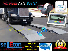 NEW 12' x 24'' Wireless Truck Axle Scale with Printer / 60,000 lbs. Capacity