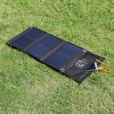 ALLOYSEED 21W Dual Port Solar Charger w/ SunPower Solar Panel for iPhone