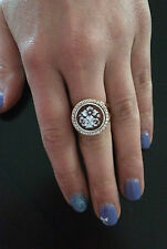 Anello in argento 925 cammeo CZ angelo sardonico ring cameo flower Made in Italy