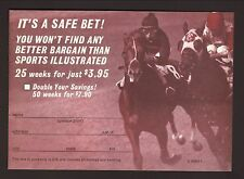 1972 Sports Illustrated Subscription Card--Horse Racing