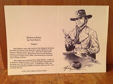 PAUL MADORE print of CLINT EASTWOOD in HIGH PLAINS DRIFTER pencil signed