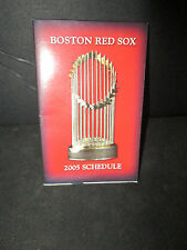 BOSTON RED SOX 2004 CHAMPIONS TROPHY=2005 SCHEDULE