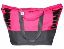 VICTORIA SECRET PINK WEEKEND GETAWAY GYM BAG TOTE ZIP TOP OVERSIZED