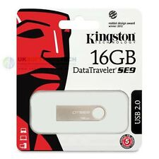 Kingston 16GB Data Traveler Metal Slim SE9 USB Pen Memory FlashDrive DTSE9H/16GB