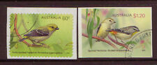 AUSTRALIA 2013 BIRDS PARDALOTES SELF/AD. SET OF 2 FINE USED
