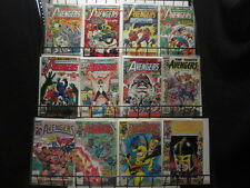 AVENGERS Lot of 36 Marvel Comics 1980-95 Thor Cap Iron Man Wasp Ms Marvel F-VF/+