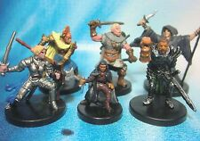 Dungeons & Dragons Miniatures Lot  Balanced Player Character Party !!  s101