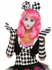 HARLEQUIN LADIES CLOWN OPERA LONG GLOVES FANCY DRESS ACCESSORY ADULT ONE SIZE