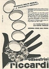 W8969 Canestrini RICCARDI - Pubblicità del 1958 - Vintage advertising