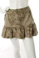 Bench -Extra Small- $62 Ladies Tan Three Button Pockets Camouflage Skirt XS NWT
