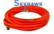 "1/4"" NPT Fitting X 50 FT Air Compressor PU Orange Hose Roofing Framing Carpentry"
