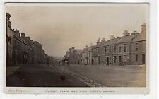 MARKET PLACE AND HIGH STREET, LAUDER: Berwickshire postcard (C25610)