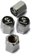 PT Cruiser Logo on Black Chrome Tire Valve Stem Cap ABS Plastic