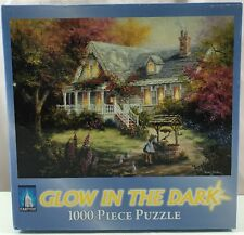 GLOW IN THE DARK Puzzle The Wishing Well 1000 Piece PUZZLE