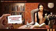 Easy ebook Shop generador plus de alta calidad ebook bonus-PLR/reseller-proyecto