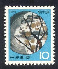 Japón 1973 nuevo Año/Plum Blossom/flores/Cerámica/Cerámica/Art 1v (n26737)