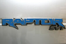 Vinyl Decal Graphics Tailgate Emblem Inlays fits 2010-2014 F-150 Raptor SVT BLUE