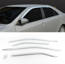 Chrome Wind Rain Guard Window Sun Visor Vent 4p For 2012-2014 TOYOTA Camry