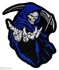 "GRIM REAPER (BLUE) BACK PATCH 26CM x 35CM (10 1/4"" x 13 3/4"") Sew on"