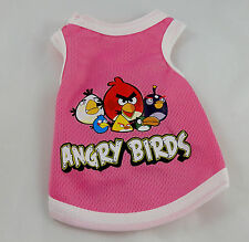 Angry Birds breathable mesh tank style vest for small dogs,pet clothes, t-shirts