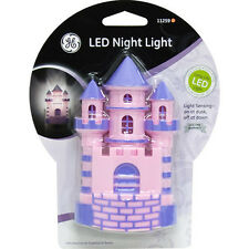 GE Pink Princess Castle Adorable LED Night Light Auto On and Off Cool to Touch