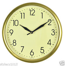 "VINTAGE GOLDEN 10"" inches Wall Clock Simple Descent for Home & Office - WC502"