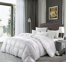 Luxurious King Size Goose Down Alternative Comforter Egyptian Cotton Cover White