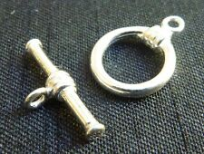 Sterling silver toggle clasp small jewelry  jewellery making supplies findings