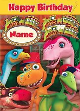 - DINOSAUR TRAIN - IDEAL FOR SON DAUGHTER CHILDRENS PERSONALISED BIRTHDAY CARD