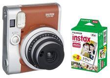 """Fuji Instax Mini 90 Neo Classic """"Braun"""" + 20 Aufnahmen ! Sofortbildkamera"""