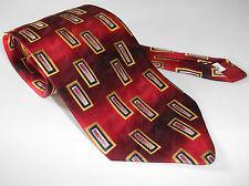 Roberto London made in GT Britain tutti Cravatta di seta rosso astratto Rettangolo FOULARD DA COLLO