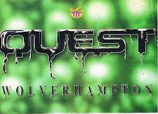 QUEST Rave Flyer Flyers 24/6/95 A5 Broad Street Wolverhampton