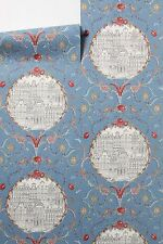4 rolls Anthropologie RARE Mansfield Court Wallpaper Scribble Sketch birds roses