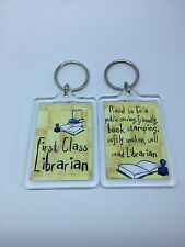Librarian First Class Librarian Keyring - Xmas Gift Present Idea