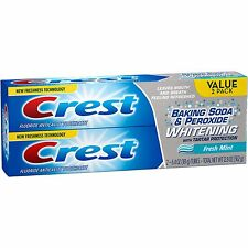 Crest Baking Soda & Peroxide Whitening Fresh Mint Toothpaste, 6.4 oz,(Pack of 2)