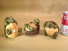 Unique Turtle Lover Set Of See, Speak, Hear No evil Hard Shell Idiots