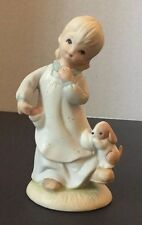 Never Leave Me Girl Dog Lefton China The Christopher Collection 1982 Vintage