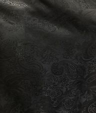 BLACK METALLIC PAISLEY BROCADE FABRIC (60 in.) Sold By The Yard
