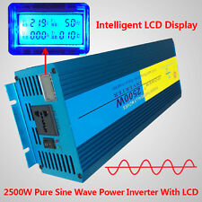 LCD Display Pure Sine Wave power inverter 2500W Peak 5000W DC 24V TO AC 230V