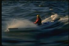 155001 Solo Canoe Surfing Ottawa River Ontario A4 Photo Print