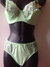 Lime Green bra and brief knicker sets  36DD  (P902)