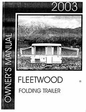 COLEMAN Popup Trailer Owners Manual-2003 Destiny Taos Yuma Cottonwood Sedona
