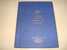 Rover 60, 75, 95 OE Fábrica Manual De Taller FEB.1954 c/w Embalaje Original